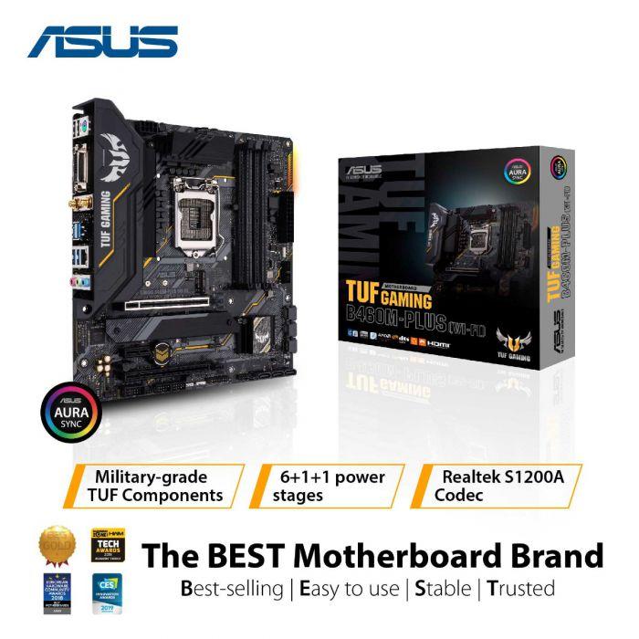 ASUS TUF GAMING B460M-PLUS (WIFI) 4DDR4 2XM.2 MOTHERBOARD (DVI, HDMI, DP)