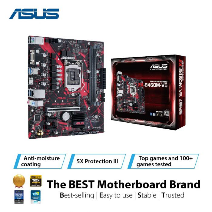 ASUS EX-B460M-V5 2DDR4 M.2 MOTHERBOARD (DB15, HDMI)