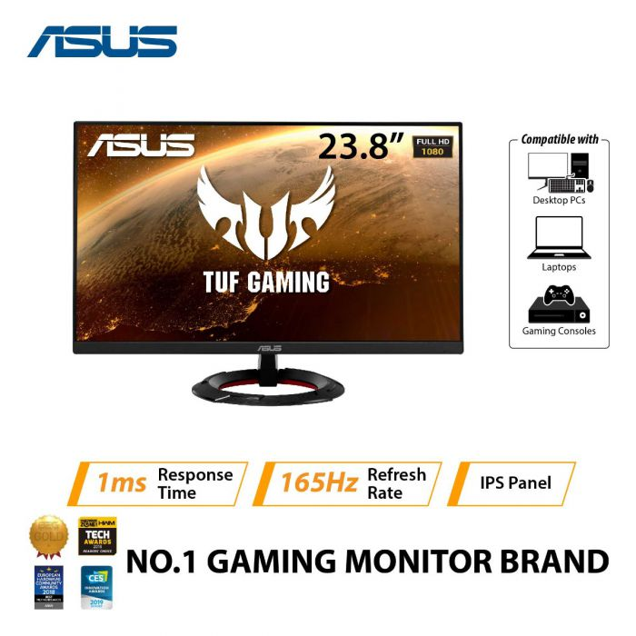 "ASUS VG249Q1R 23.8"" FHD IPS LED GAMING MONITOR 165HZ 1MS W/ SPKR WALLMOUNT (2XHDMI, DP)"