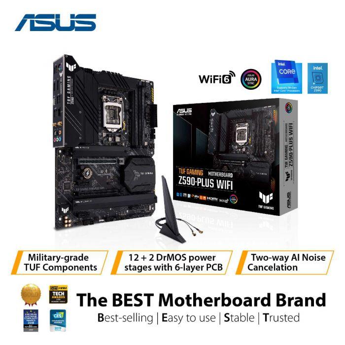 ASUS TUF GAMING Z590-PLUS WIFI 4DDR4 3XM.2 MOTHERBOARD (HDMI, DP) WIFI+BT