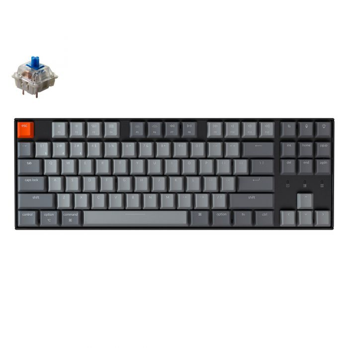 KEYCHRON K8 RGB WIRED/BLUETOOTH TKL MECHANICAL KEYBOARD (BLUE SWITCH/SWAPPBL)