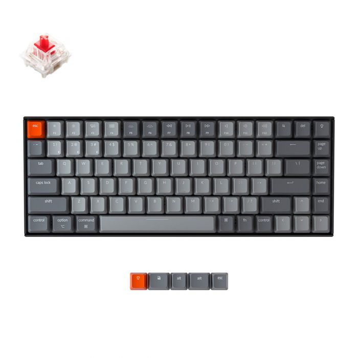 KEYCHRON K2 RGB WIRED/BLUETOOTH COMPACT MECHANICAL KEYBOARD (RED SWITCH)