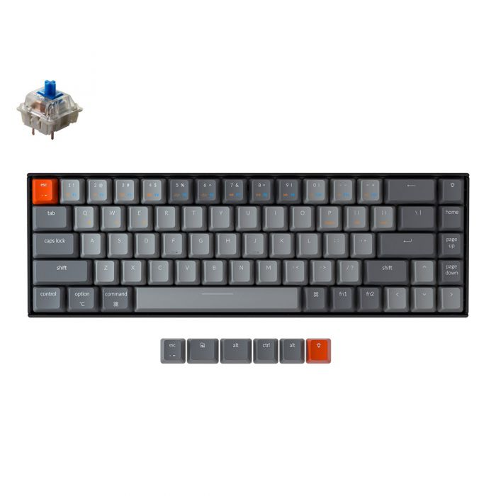 KEYCHRON K6 RGB 65% COMPACT TKL MECHANICAL KEYBOARD (BLUE SWITCH)