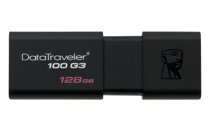 KINGSTON DATA TRAVELLER 100 GEN 3 USB 3.0 128GB BLACK