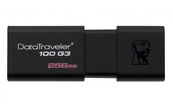KINGSTON DATA TRAVELLER 100 GEN 3 USB 3.0 256GB BLACK