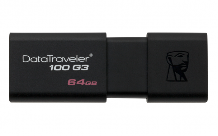 KINGSTON DATA TRAVELLER 100 GEN 3 USB 3.0 64GB BLACK