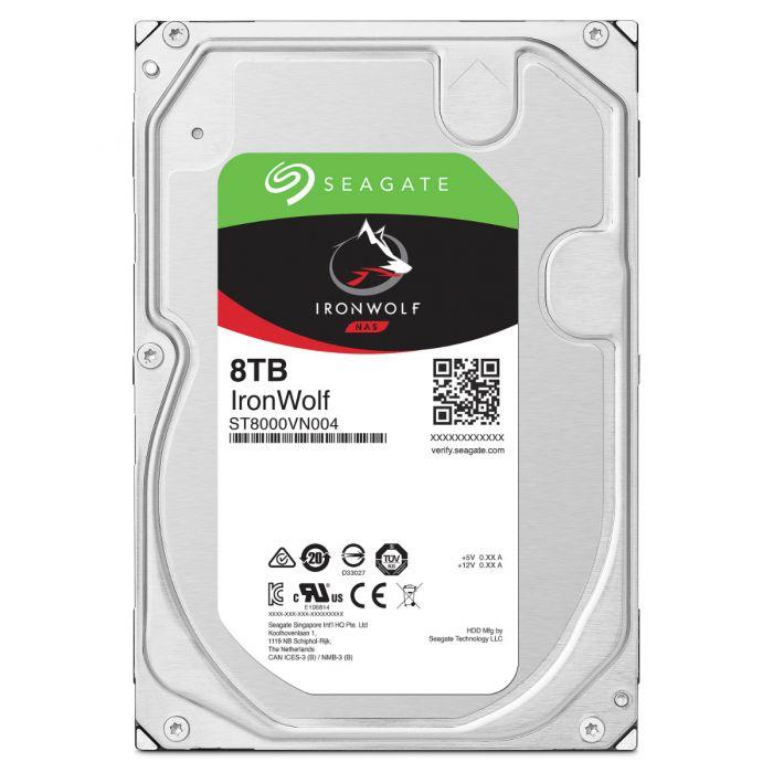 SEAGATE 8TB IRONWOLF SATA 6GB/S (ST8000VN004) 256MB