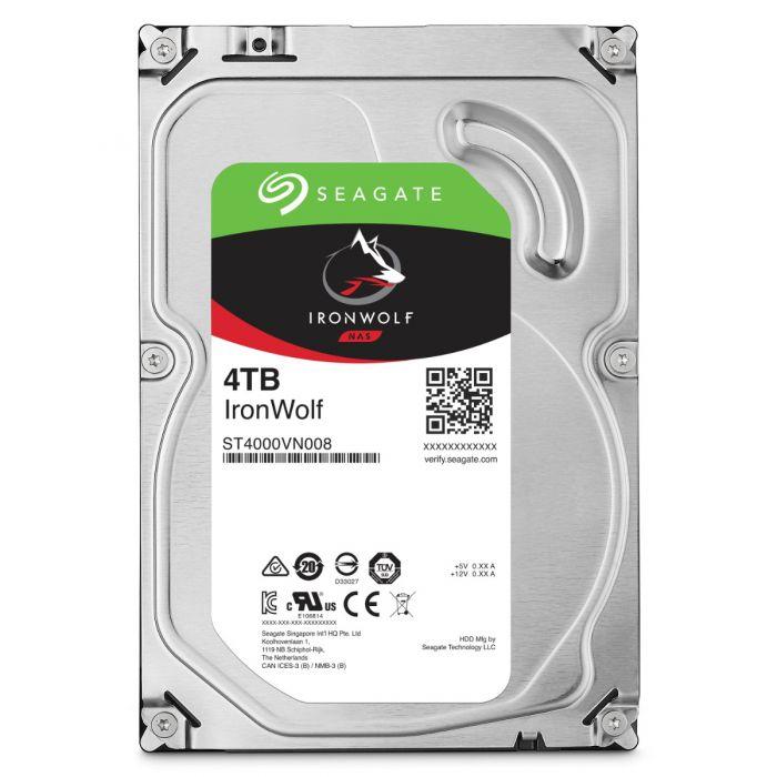 SEAGATE 4TB IRONWOLF SATA 6GB/S (ST4000VN008) 64MB