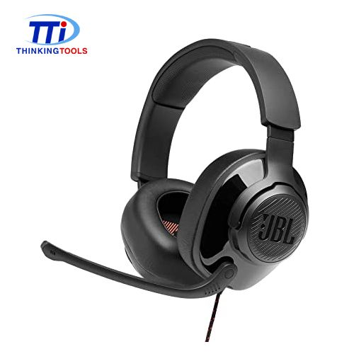 JBL QUANTUM 300 WIRED 3.5MM OVER-EAR GAMING HEADSET (BLACK)