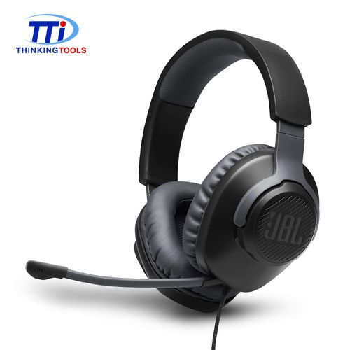 JBL QUANTUM 100 WIRED 3.5MM OVER-EAR GAMING HEADSET (BLACK)