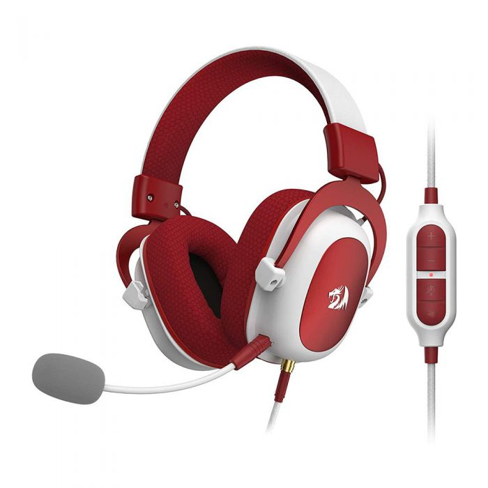 REDRAGON ZEUS2 7.1 VRTUAL SURROUND GMG HDST (PC, PS4, XBX ONE, NINTENDO SWTCH, MOBL) (WHITE/RED)