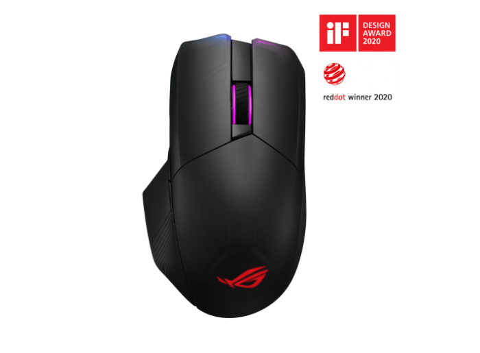 ASUS ROG CHAKRAM QI WIRED/WIRELESS/BLUETOOTH RGB GAMING MOUSE