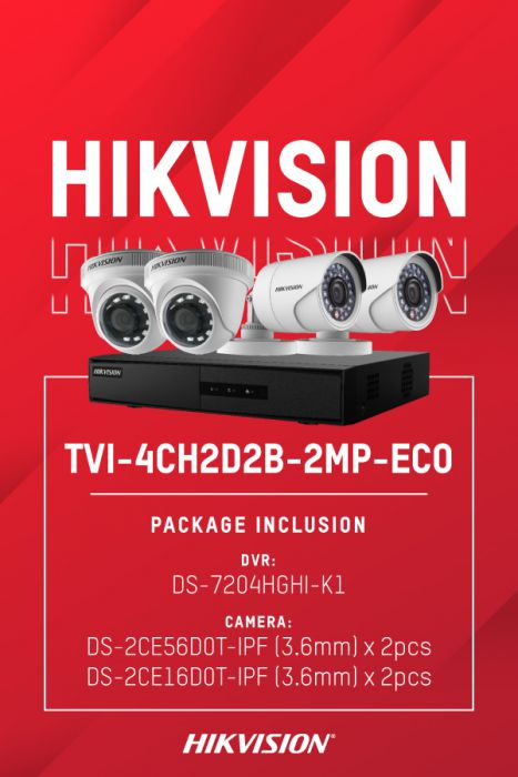 HIKVISION TVI-4CH2D2B-2MP/ECO (DS-7204HGHI-K1, DS-2CE56D0T-IPF x 2, DS-2CE16D0T-IPF x 2)