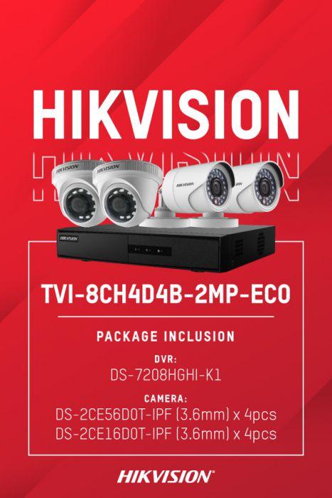 HIKVISION TVI-8CH4D4B-2MP/ECO (DS-7208HGHI-K1, DS-2CE56D0T-IPF x 4, DS-2CE16D0T-IPF x 4)