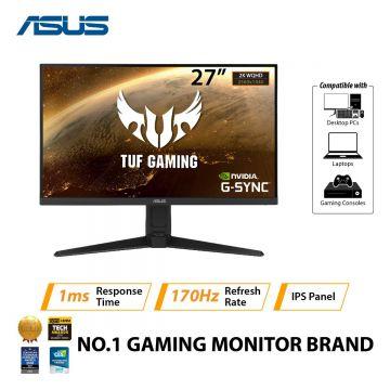 "ASUS TUF VG27AQL1A 27"" WQHD IPS LED GAMING MONITOR W/ SPK WLMNT (2XHDMI, 2XDP, 2XUSB3.0)"