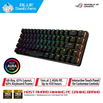 ASUS ROG FALCHION 65% COMPACT RGB MECHANICAL GAMING KEYBOARD (BLUE SWITCH)