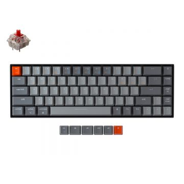 KEYCHRON K6 RGB 65% COMPACT TKL MECHANICAL KEYBOARD (RED SWITCH)