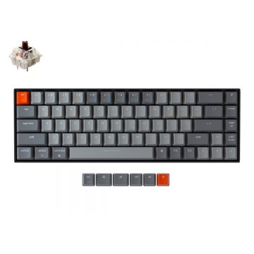 KEYCHRON K6 RGB 65% COMPACT TKL MECHANICAL KEYBOARD (BROWN SWITCH)