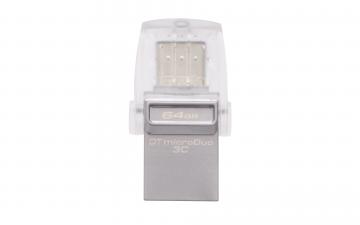 KINGSTON DATA TRAVELLER 64GB DTDUO3C USB3.1 TYPE-C OTG FLASH DRIVE
