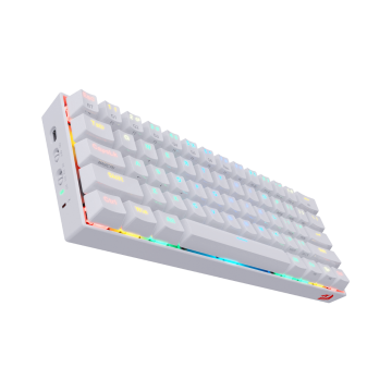 REDRAGON DRACONIC WIRED/BLUETOOTH RGB MECHANICAL KEYBAORD (WHITE)